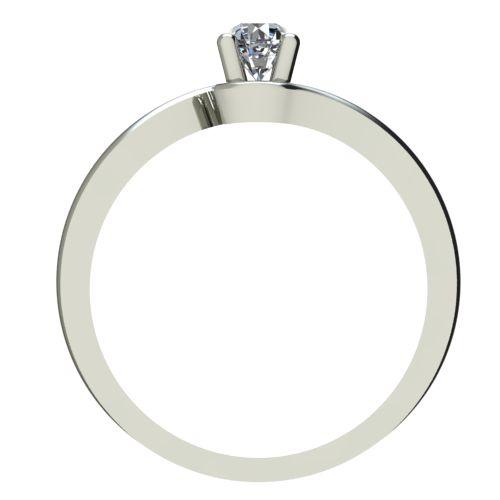Годежен Пръстен бяло злато с диамант Unity 0,12 ct. 2341 b
