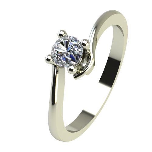 Годежен Пръстен бяло злато с диамант Unity 0,12 ct. 2341