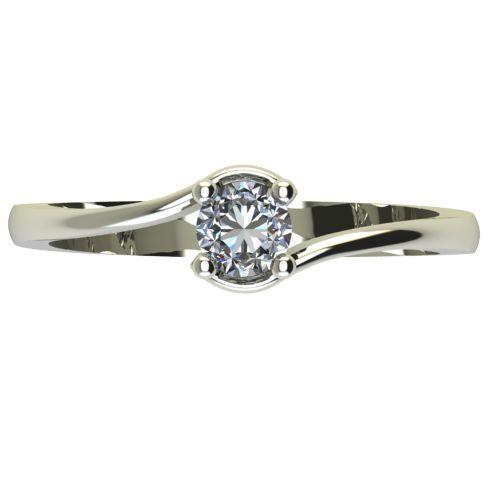Годежен Пръстен бяло злато с диамант Unity 0,17 ct. 2342 a
