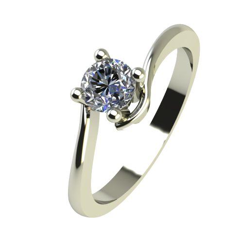 Годежен Пръстен бяло злато с диамант Unity 0,17 ct. 2342