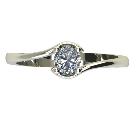 Годежен Пръстен бяло злато с диамант Unity 0,25 ct. 2343 a