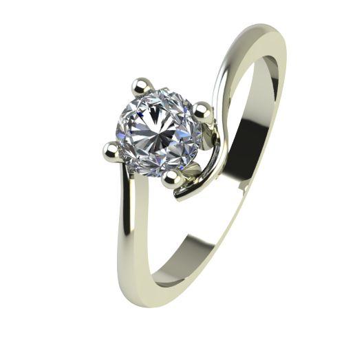 Годежен Пръстен бяло злато с диамант Unity 0,25 ct. 2343