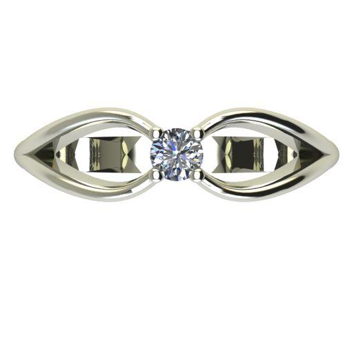 Годежен Пръстен бяло злато с диамант Wings 0,07 ct. 2345 a