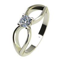 Годежен Пръстен бяло злато с диамант Wings 0,12 ct. 2346