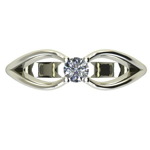 Годежен Пръстен бяло злато с диамант Wings 0,12 ct. 2346 a