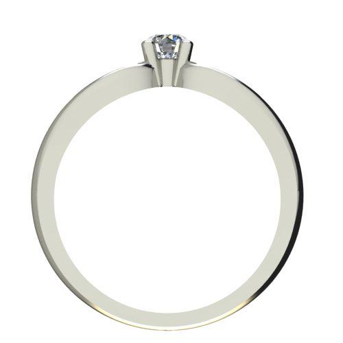 Годежен Пръстен бяло злато с диамант Wings 0,12 ct. 2346 b