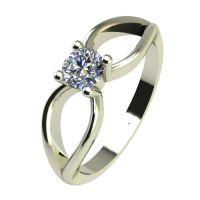 Годежен Пръстен бяло злато с диамант Wings 0,17 ct. 2347