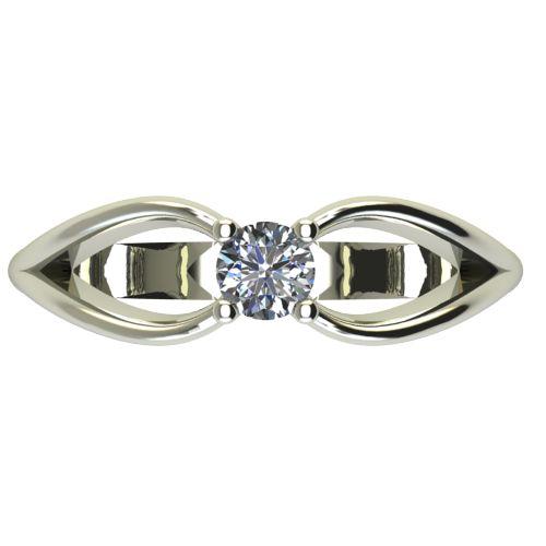 Годежен Пръстен бяло злато с диамант Wings 0,17 ct. 2347 a
