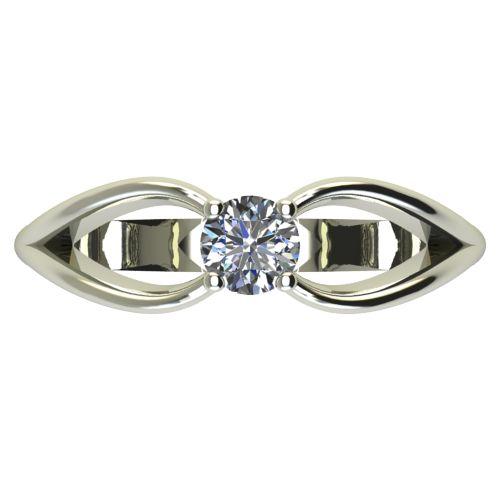 Годежен Пръстен бяло злато с диамант Wings 0,25 ct. 2348 a
