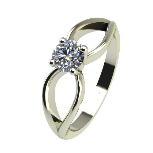 Годежен Пръстен бяло злато с диамант Wings 0,25 ct. 2348