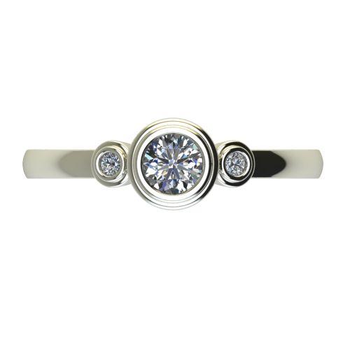 Годежен Пръстен бяло злато с диамант Moon 0,28 ct. 2366 a