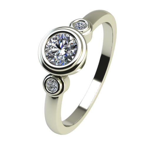 Годежен Пръстен бяло злато с диамант Moon 0,28 ct. 2366