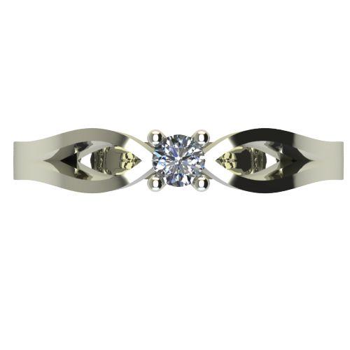 Годежен Пръстен бяло злато с диамант Wings 0,04 ct. 2367 a
