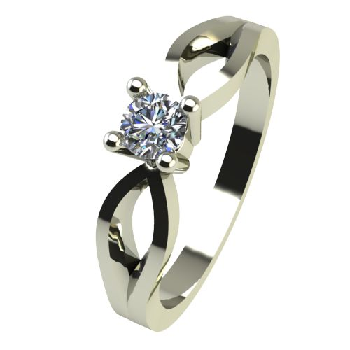 Годежен Пръстен бяло злато с диамант Wings 0,04 ct. 2367