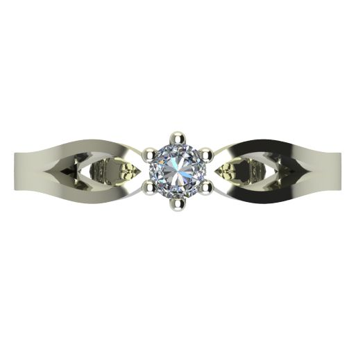 Годежен Пръстен бяло злато с диамант Wings 0,04 ct. 2372 a