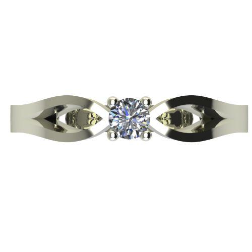 Годежен Пръстен бяло злато с диамант Wings 0,07 ct. 2368 a