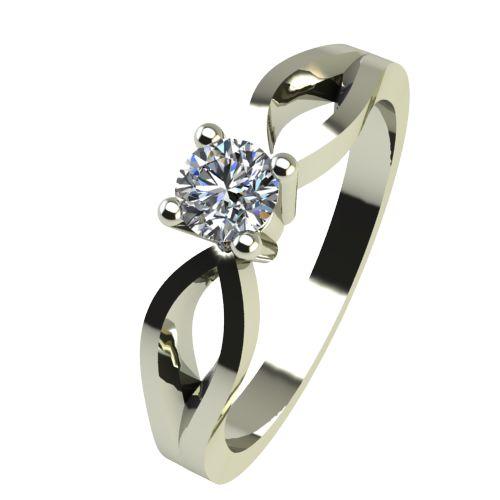 Годежен Пръстен бяло злато с диамант Wings 0,07 ct. 2368