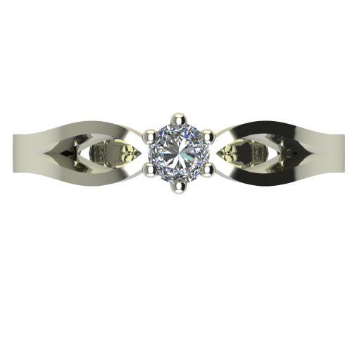Годежен Пръстен бяло злато с диамант Wings 0,07 ct. 2373 a