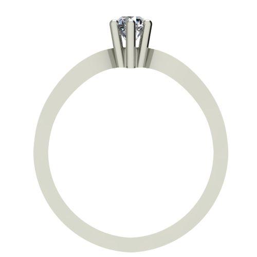 Годежен Пръстен бяло злато с диамант Wings 0,07 ct. 2373 b