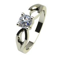 Годежен Пръстен бяло злато с диамант Wings 0,12 ct. 2369