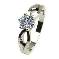 Годежен Пръстен бяло злато с диамант Wings 0,12 ct. 2374