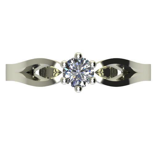 Годежен Пръстен бяло злато с диамант Wings 0,12 ct. 2374 a