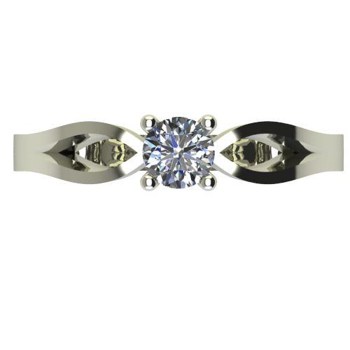 Годежен Пръстен бяло злато с диамант Wings 0,17 ct. 2370 a