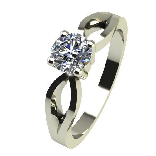 Годежен Пръстен бяло злато с диамант Wings 0,17 ct. 2370