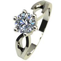 Годежен Пръстен бяло злато с диамант Wings 0,17 ct. 2375