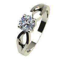 Годежен Пръстен бяло злато с диамант Wings 0,25 ct. 2371