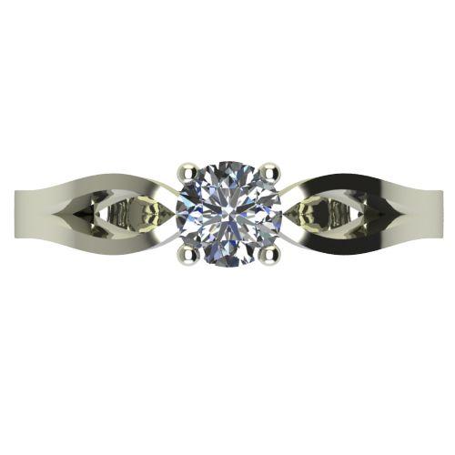 Годежен Пръстен бяло злато с диамант Wings 0,25 ct. 2371 a