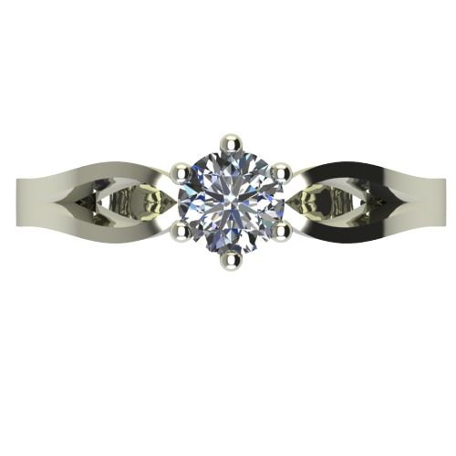 Годежен Пръстен бяло злато с диамант Wings 0,25 ct. 2376 a