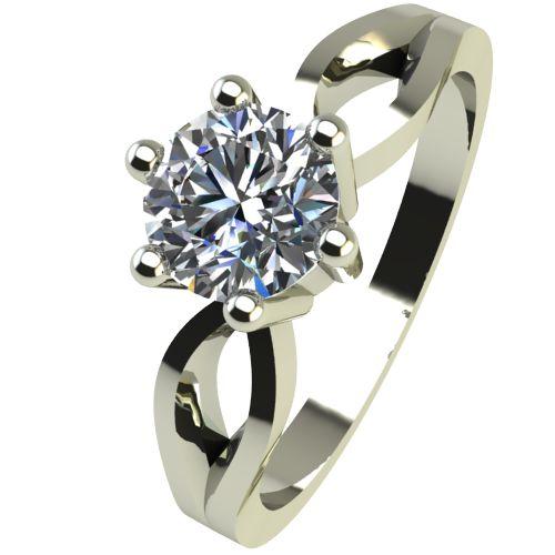 Годежен Пръстен бяло злато с диамант Wings 0,25 ct. 2376