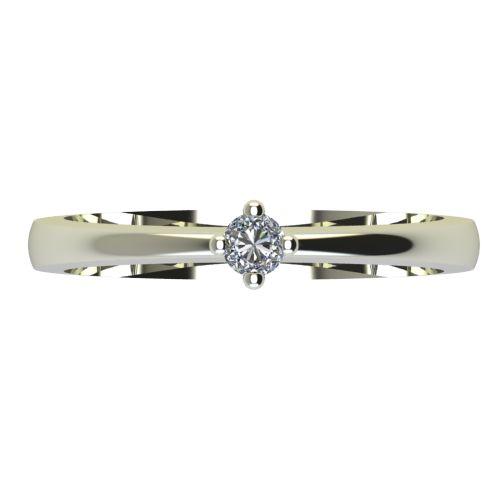 Годежен Пръстен бяло злато с диамант Cante 0,04 ct. 2382 a