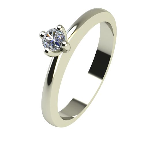 Годежен Пръстен бяло злато с диамант Cante 0,04 ct. 2382