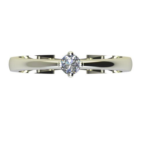 Годежен Пръстен бяло злато с диамант Cante 0,07 ct. 2383 a