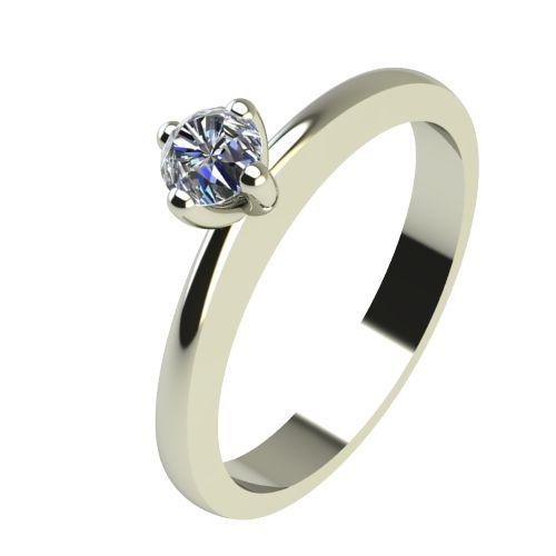 Годежен Пръстен бяло злато с диамант Cante 0,07 ct. 2383
