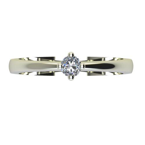 Годежен Пръстен бяло злато с диамант Cante 0,12 ct. 2384 a