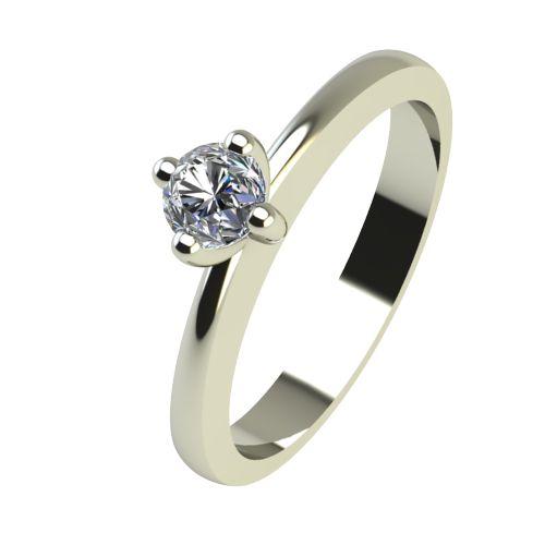 Годежен Пръстен бяло злато с диамант Cante 0,12 ct. 2384
