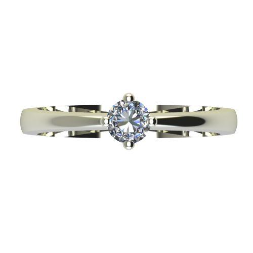 Годежен Пръстен бяло злато с диамант Cante 0,17 ct. 2385 a