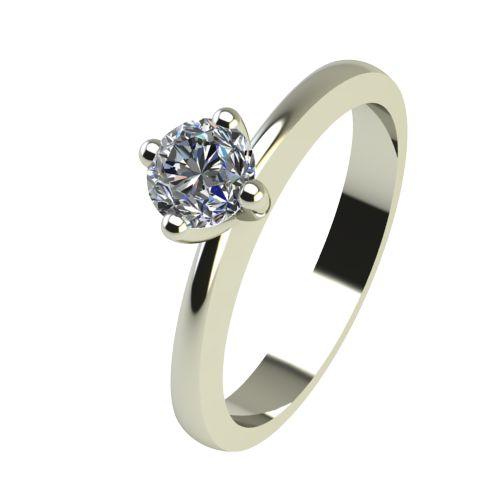Годежен Пръстен бяло злато с диамант Cante 0,17 ct. 2385