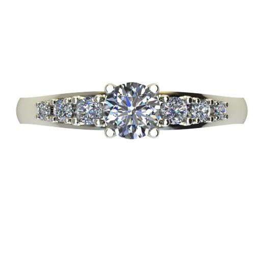 Годежен Пръстен бяло злато с диамант Edge 0,39 ct. 2393 a