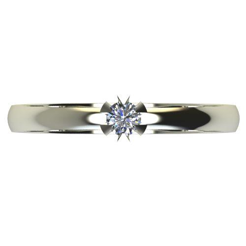 Годежен Пръстен бяло злато с диамант Flores 0,04 ct. 2377 a