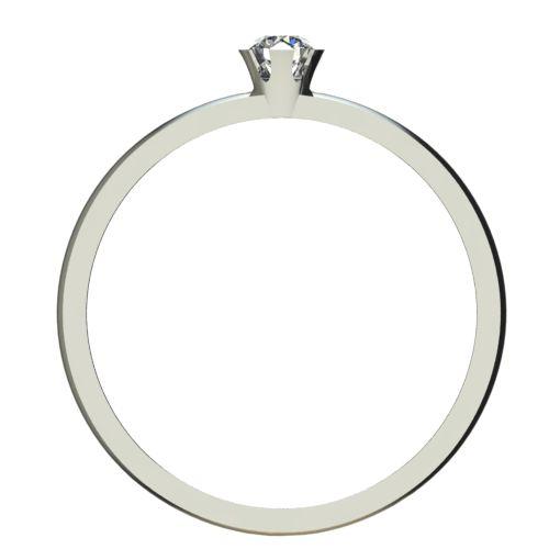 Годежен Пръстен бяло злато с диамант Flores 0,04 ct. 2377 b