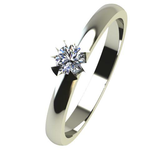 Годежен Пръстен бяло злато с диамант Flores 0,04 ct. 2377