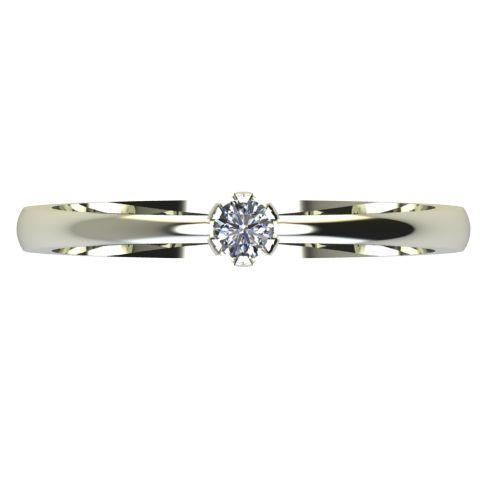 Годежен Пръстен бяло злато с диамант Flores 0,04 ct. 2394 a