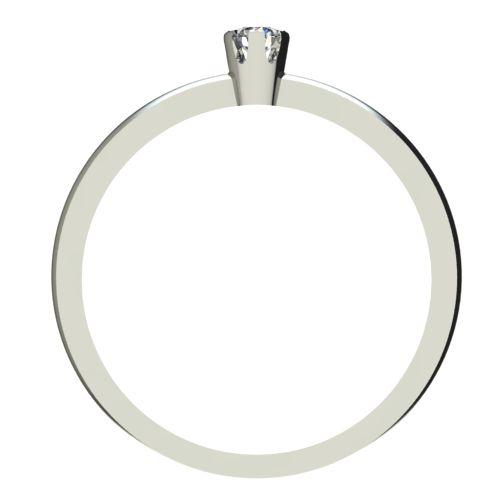 Годежен Пръстен бяло злато с диамант Flores 0,04 ct. 2394 b