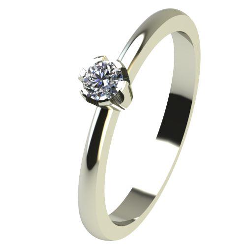 Годежен Пръстен бяло злато с диамант Flores 0,04 ct. 2394