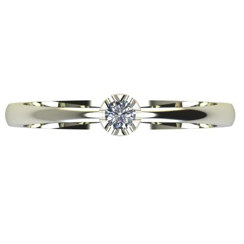 Годежен Пръстен бяло злато с диамант Flores 0,04 ct. 2408 a