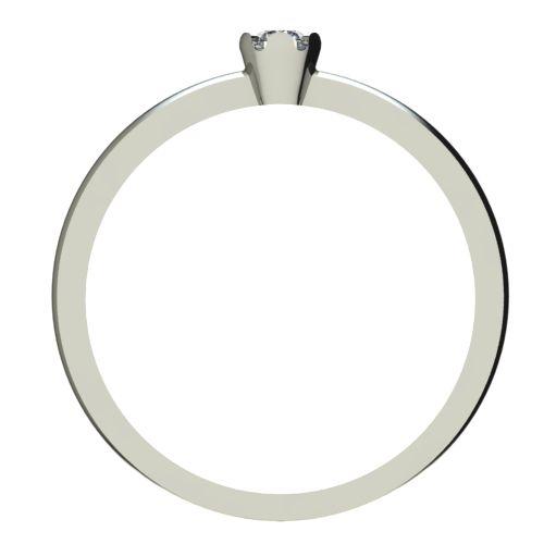 Годежен Пръстен бяло злато с диамант Flores 0,04 ct. 2408 b
